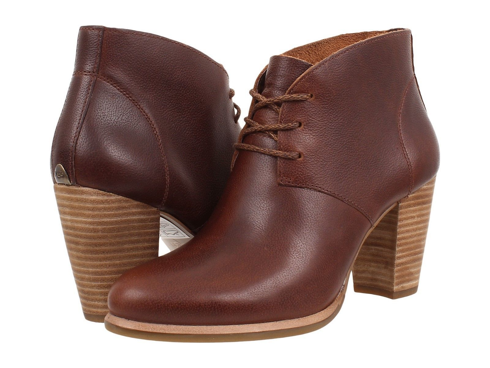 Womens Boots UGG Mackie Chestnut Leather