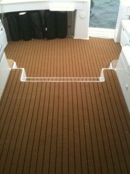 Synthetic Teak Decoration Decking For Boat Cost Of Building Faux Teak Boat Decking Building A Deck Deck Building Cost Boat House Interior