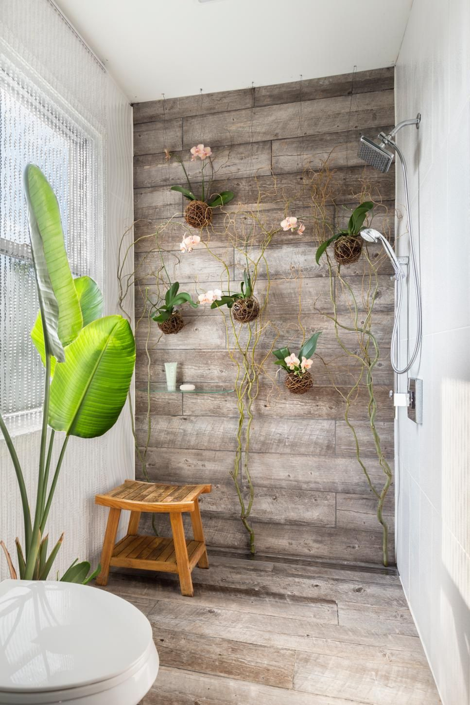 Innovative Living Orchids Wall Wood Plank Tile Shower Wood Plank Tile Shower Living Orchids Wall Nest Pinterest Wood Tile Shower Walls Wood Tile Shower Photos houzz-02 Wood Tile Shower