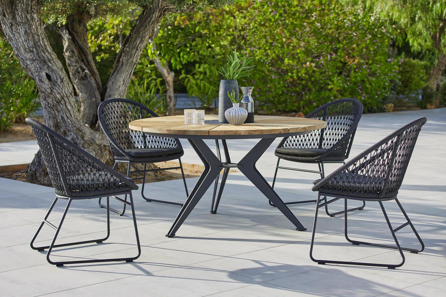Gartentisch 140 76 Cm Gartentisch Rund Holz Gartentisch Und