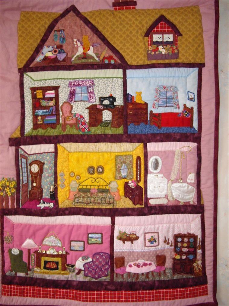 Bing : dollhouse quilt patterns   quilts   Pinterest   Patterns ... : house patterns for quilts - Adamdwight.com