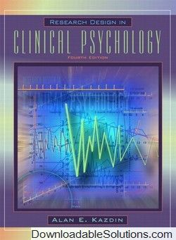 Test bank for research design in clinical psychology 4th edition test bank for research design in clinical psychology 4th edition alan e kazdin download answer fandeluxe Gallery