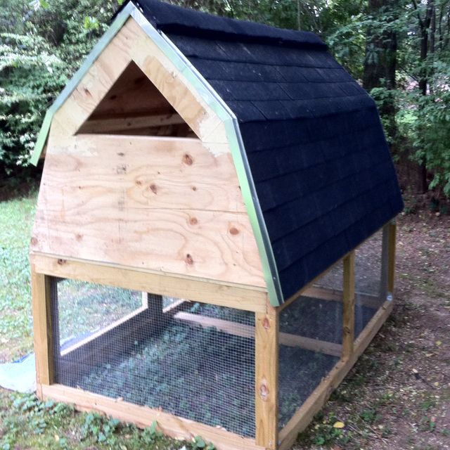Chicken coop nearing completion.