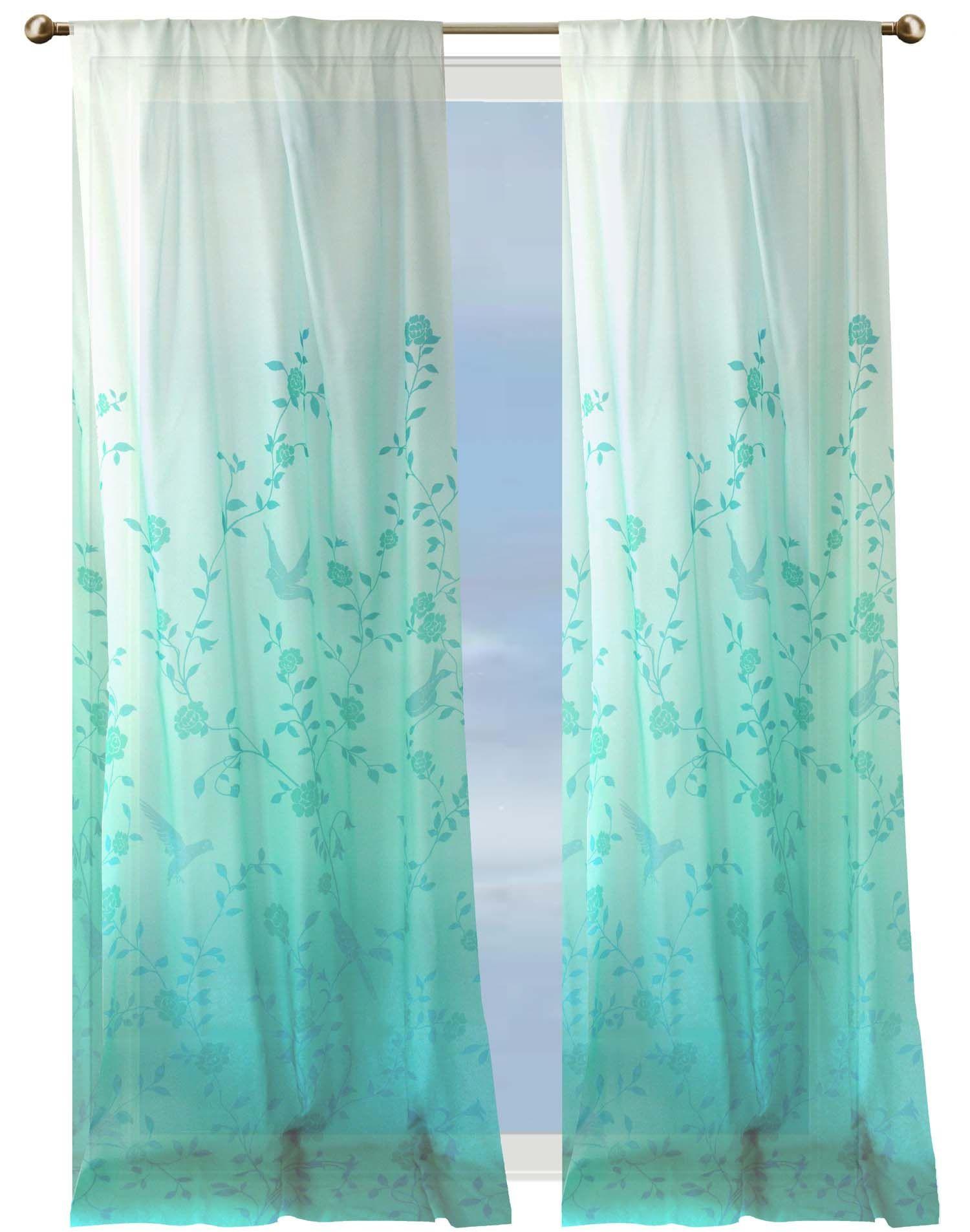 Bird sheer curtains - Bird Sanctuary Sheer Curtains