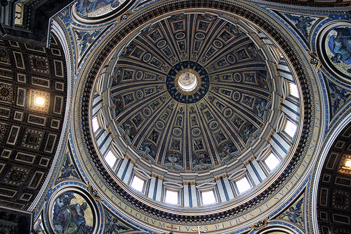 La coupole de la Basilique Saint Pierre à Rome