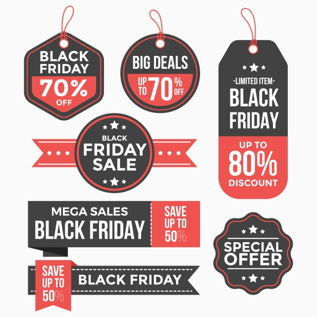 Black Friday Labels Tags Set Collection Friday Clipart Banner Abstract Png And Vector With Transparent Background For Free Download Black Friday Labels Tags Labels
