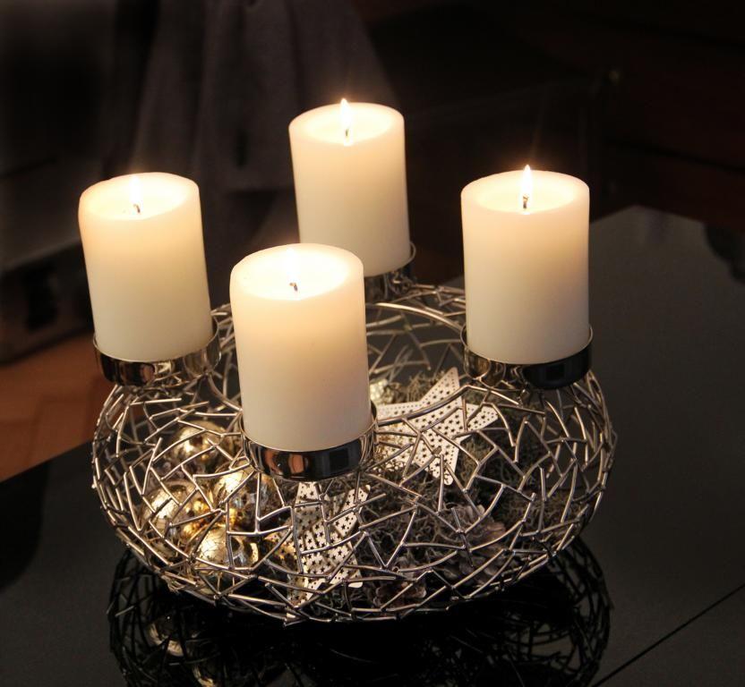 adventskranz metall deko weihnachten in deutschland. Black Bedroom Furniture Sets. Home Design Ideas