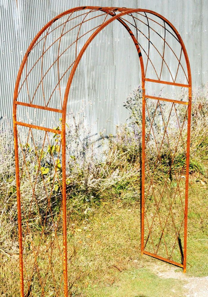 Wrought Iron Garden Arbor Round Criss Cross Metal Arch For Your Doesnotly