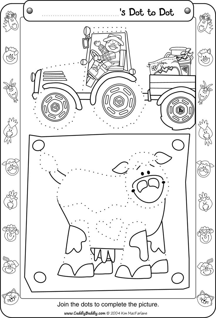 dot to dot farm worksheet Worksheets for kids, Farm theme