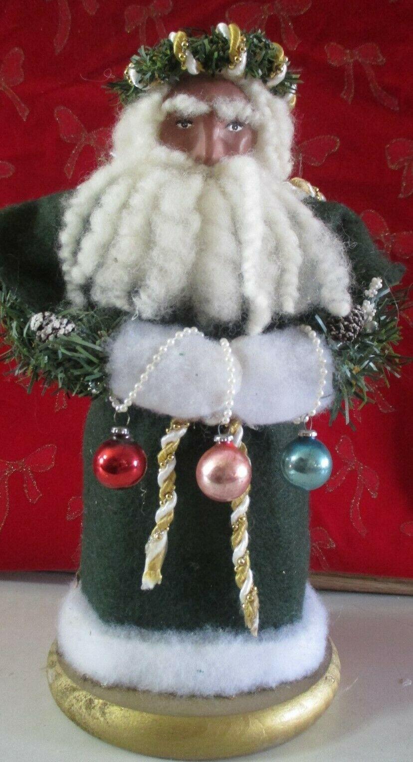Handmade Black Santa Claus King Father Christmas Ooak Black Belsnickle Santa Father Christmas Black Santa Santa Claus