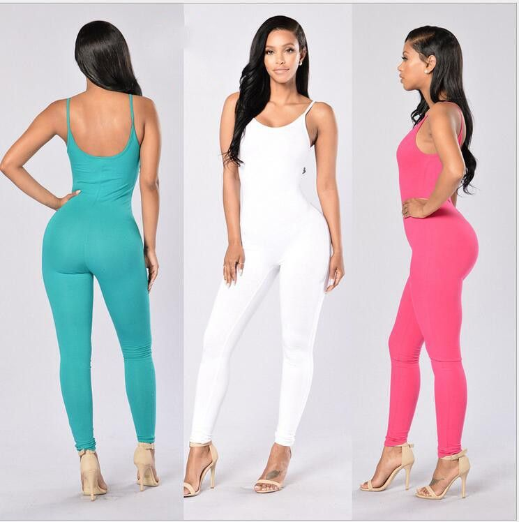 Tight Jumpsuit Women Summer Fashion Sexy Halter Long Section Tight