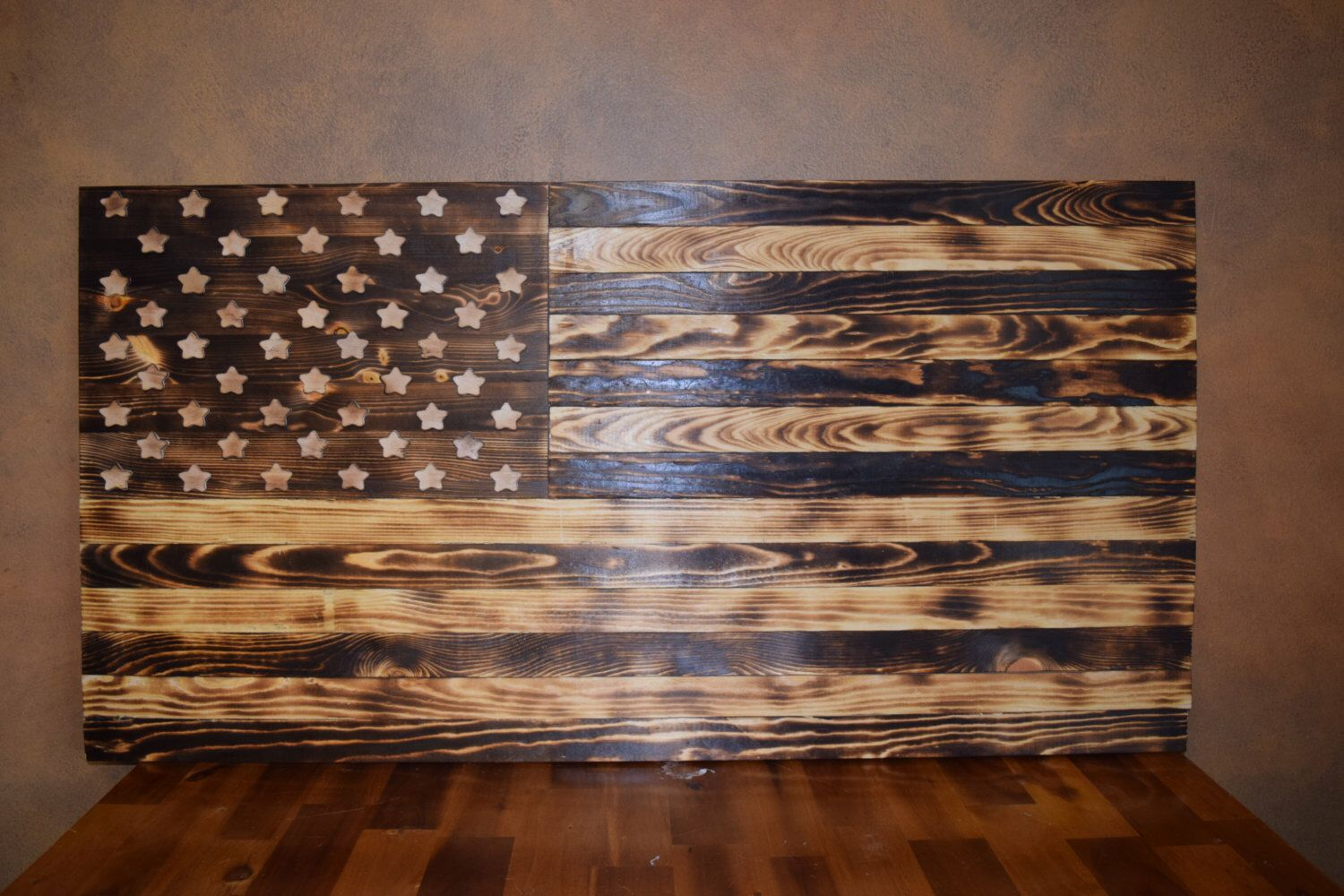 Burnt Wood American Flag By FischersFlags On Etsy Listing 260518827