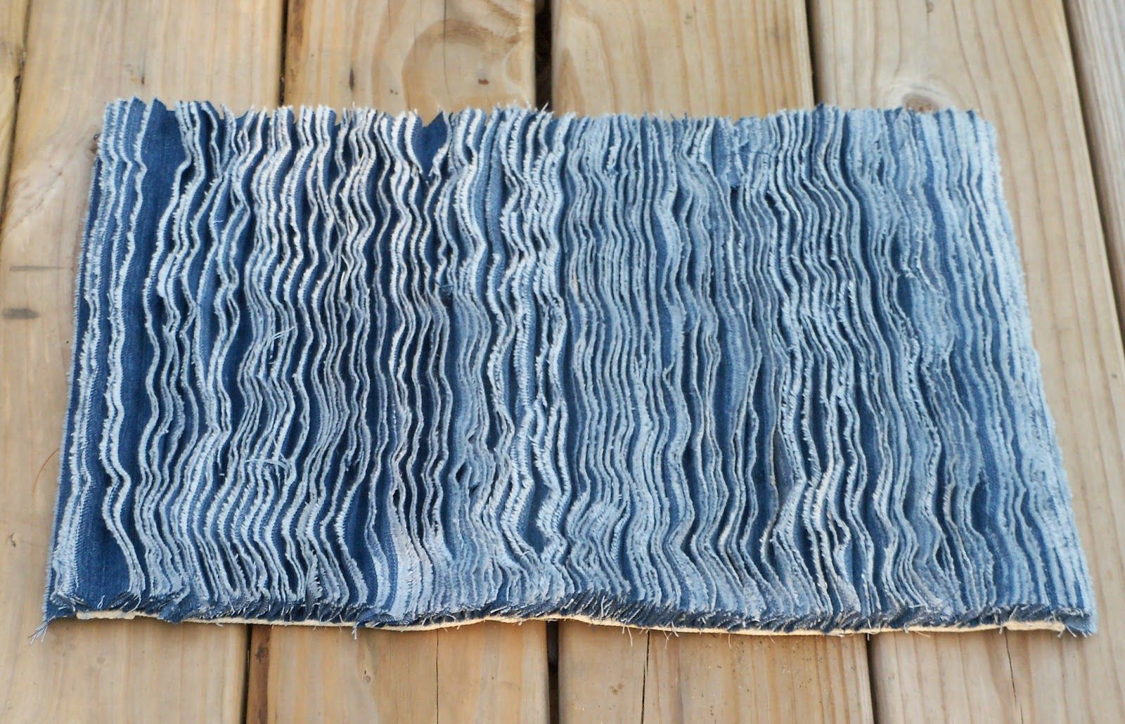 Denim Rugs From Old Jeans At Sewing Cafe Repupose