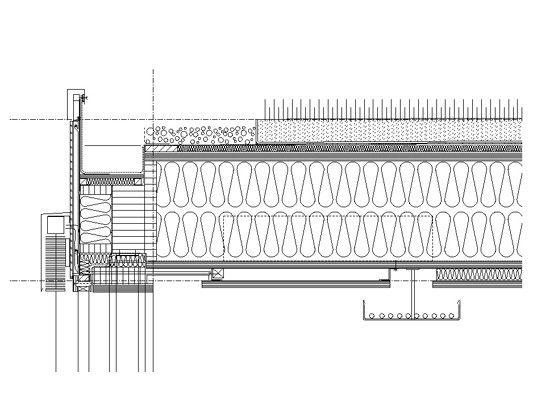 Holzbau flachdach detail  Vertikalschnitt - Detail Dachanschluss | Architektur | Pinterest ...