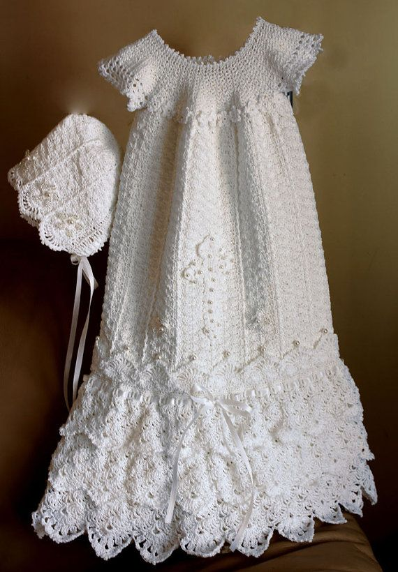 Crochet Christening Gown Pattern Crochet Baptism Gown Pattern ...
