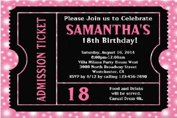 Download Now 18th Birthday Invitation Ideas FREE Printable - free 18th birthday invitation templates