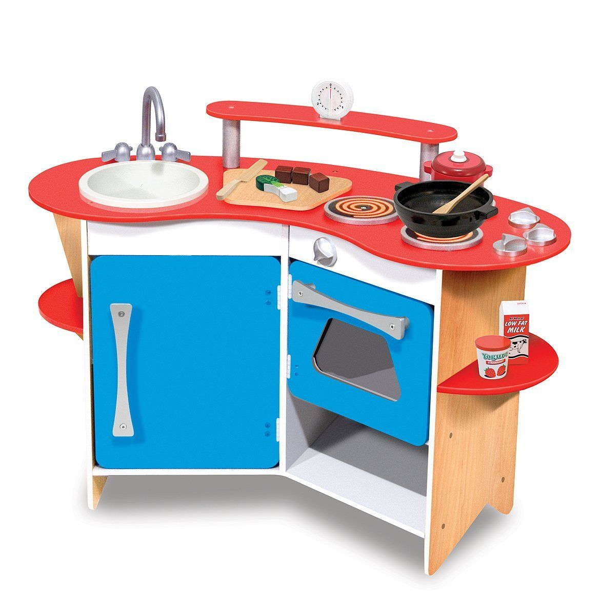 Melissa & Doug Cook\'s Corner Wooden Kitchen: Amazon.co.uk: Toys ...