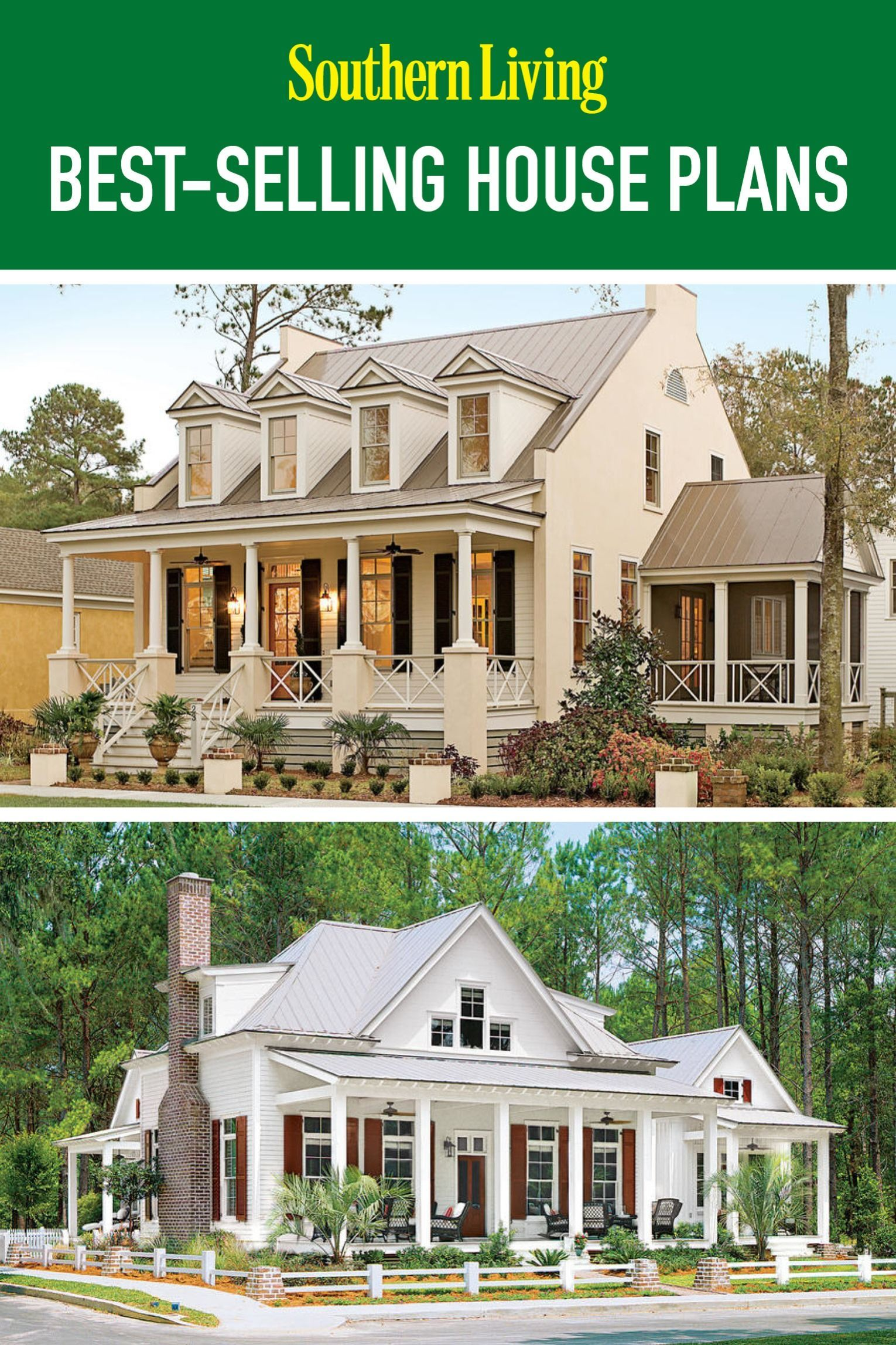 Celebrating over 30 years of offering exclusive custom designed homes here's a look at some of the most popular plans offered by Southern Living House Plans