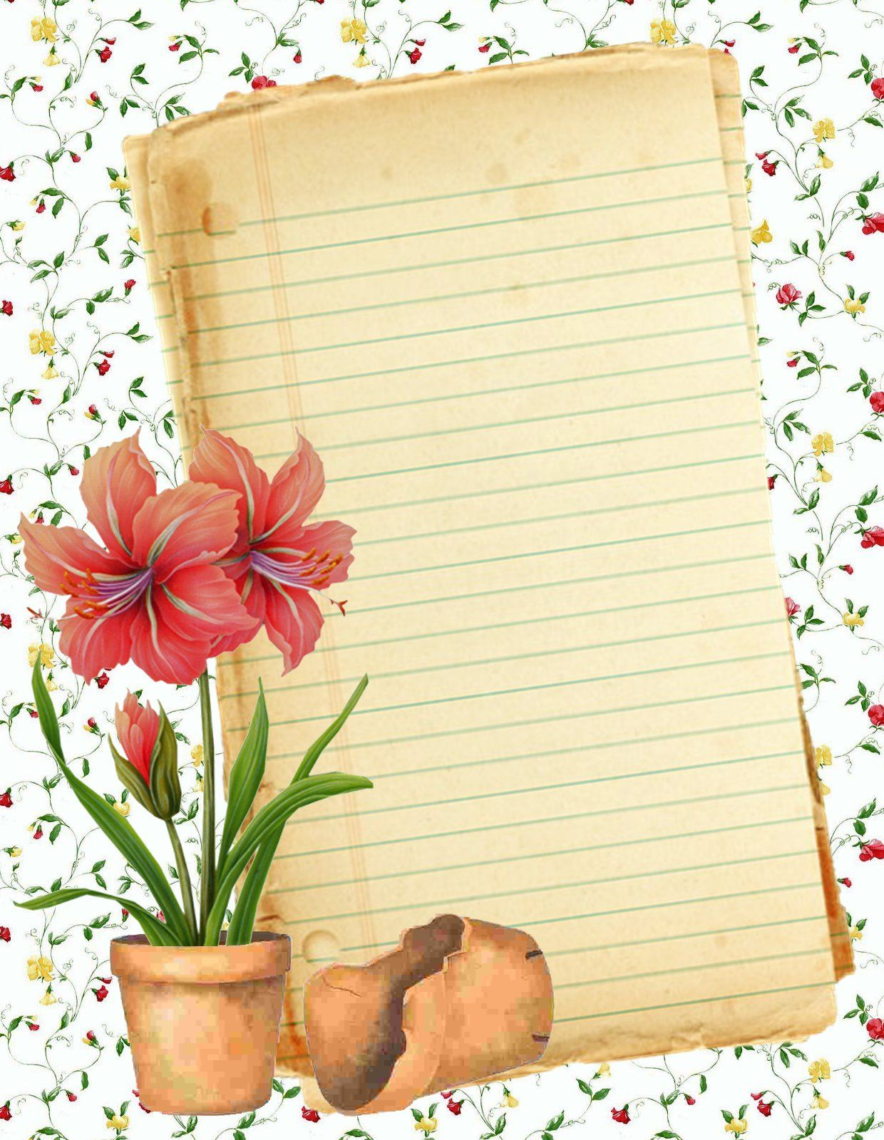 Free blank recipe quick page printable stationery