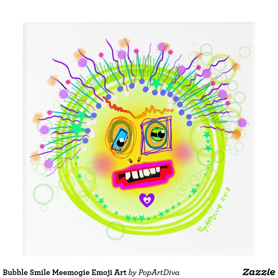 Bubble Smile Meemogie Emoji Art