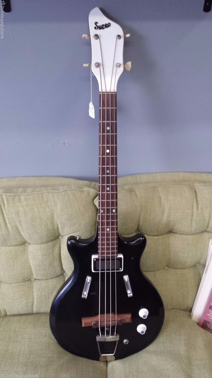 1966 Supro S488B Pocket Bass Electric Guitar - Vintage Valco Short Scale