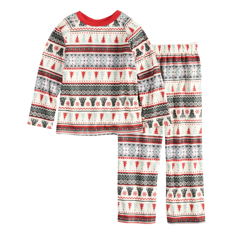 3cf744084 Cuddl Duds Boys 4-20 Jammies For Your Families Polar Bear Fairisle ...