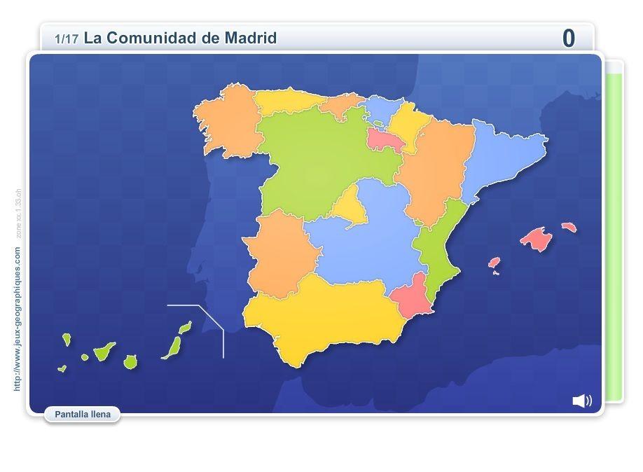 Mapa Interactivo Islas Baleares.Mapa Interactivo De Espana Comunidades De Espana Juegos