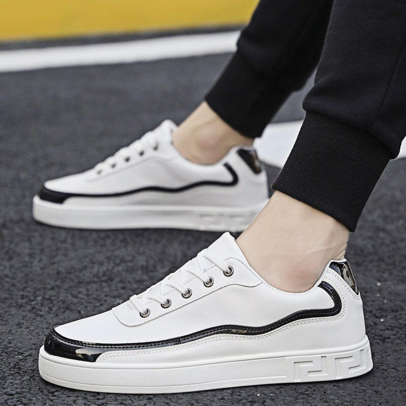 EXCARGO Spring White Shoes Men Platform Sneaker Vulcanize 2020 New Male Fashion Shoes Sneakers Comfortable Breathable Casual is part of White shoes men, Fashion shoes sneakers, Fashion shoes, Shoes mens, Sneakers outfit men, Business casual shoes - Autumn    Model Number 024    Closure Type LaceUp    Heel Height Low (1cm3cm)    Fit Fits true to size, take your normal size