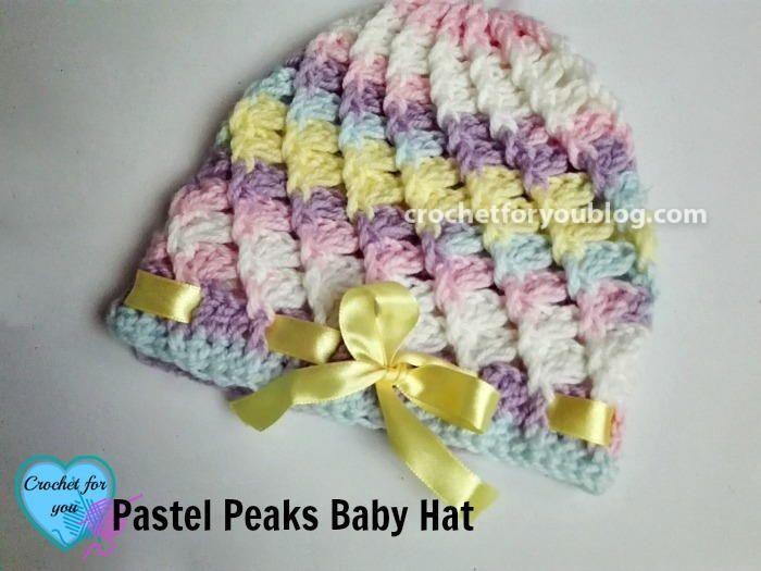 Pastel Peaks Crochet Baby Hat Pattern Crochet Baby Hat Patterns