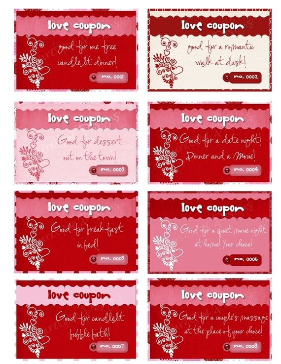 Valentines Day Sexy Love Book of Coupons