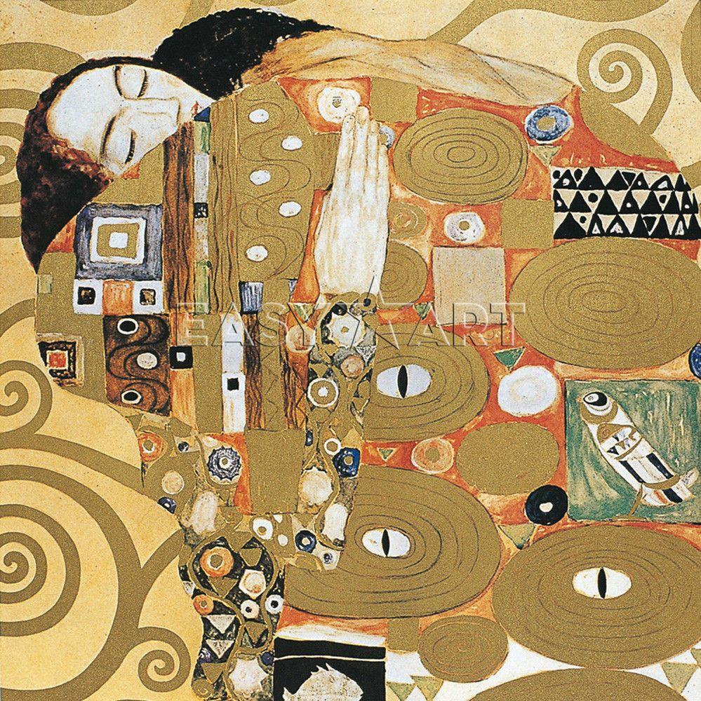 """Klimt L Arbre De Vie Tableau gustav klimt : l'arbre de vie - partie gauche """"l"""