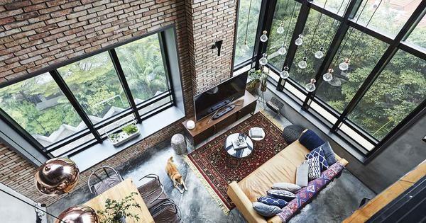 House Tour: Industrial-style loft-inspired duplex condominium apartment in Bukit Timah