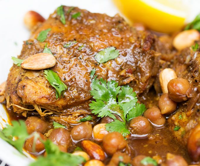 Slow Cooker Chicken Tagine With Apricots And Chickpeas Recipe Chicken Tagine Slow Cooker Chicken Tagine