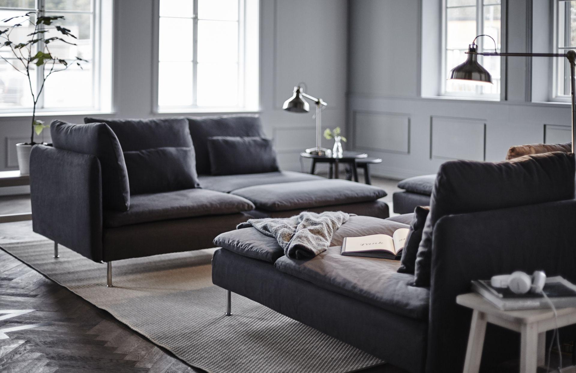 Soderhamn Serien Hjornesofa Gra Modulsofa Ikea Interior Stue