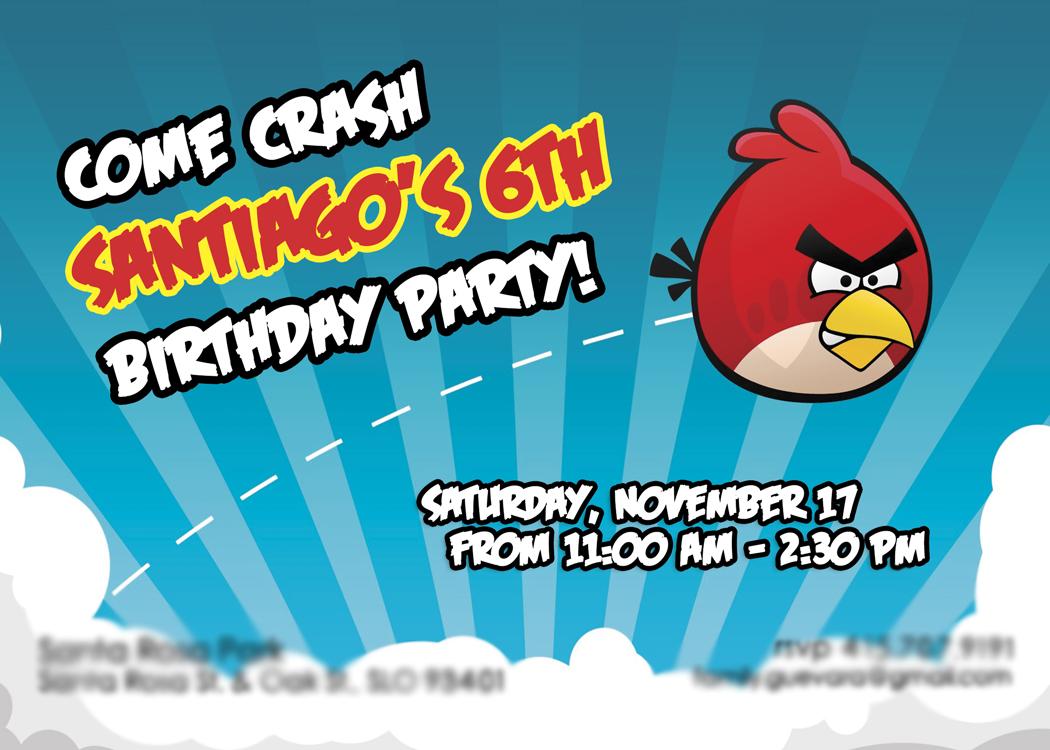 Angry Birds Birthday Invitation Images - Invitation Templates Free ...