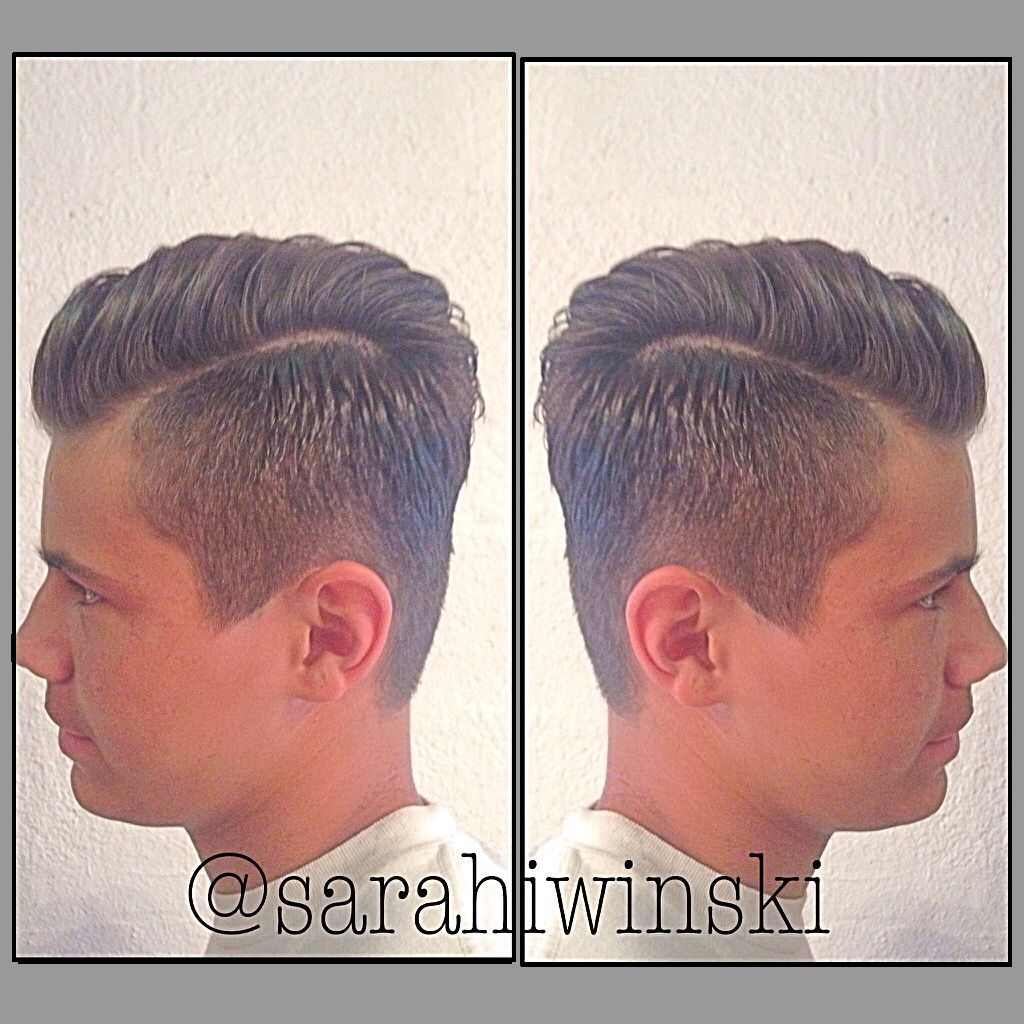 Boy hairstyle long on top a nice boys haircut i used a  on the sides and faded it up to the