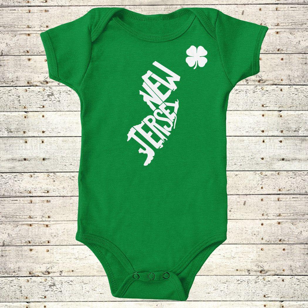New Jersey | St. Patrick's Day Stately Bodysuit by The Stately Shirt Co. 17.99 USD
