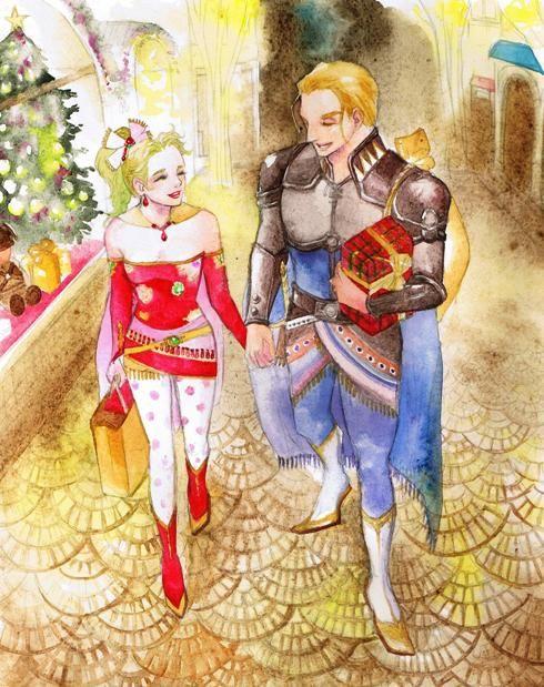 Final Fantasy Christmas.Edgar And Terra At Christmas Favorite Fanarts Final