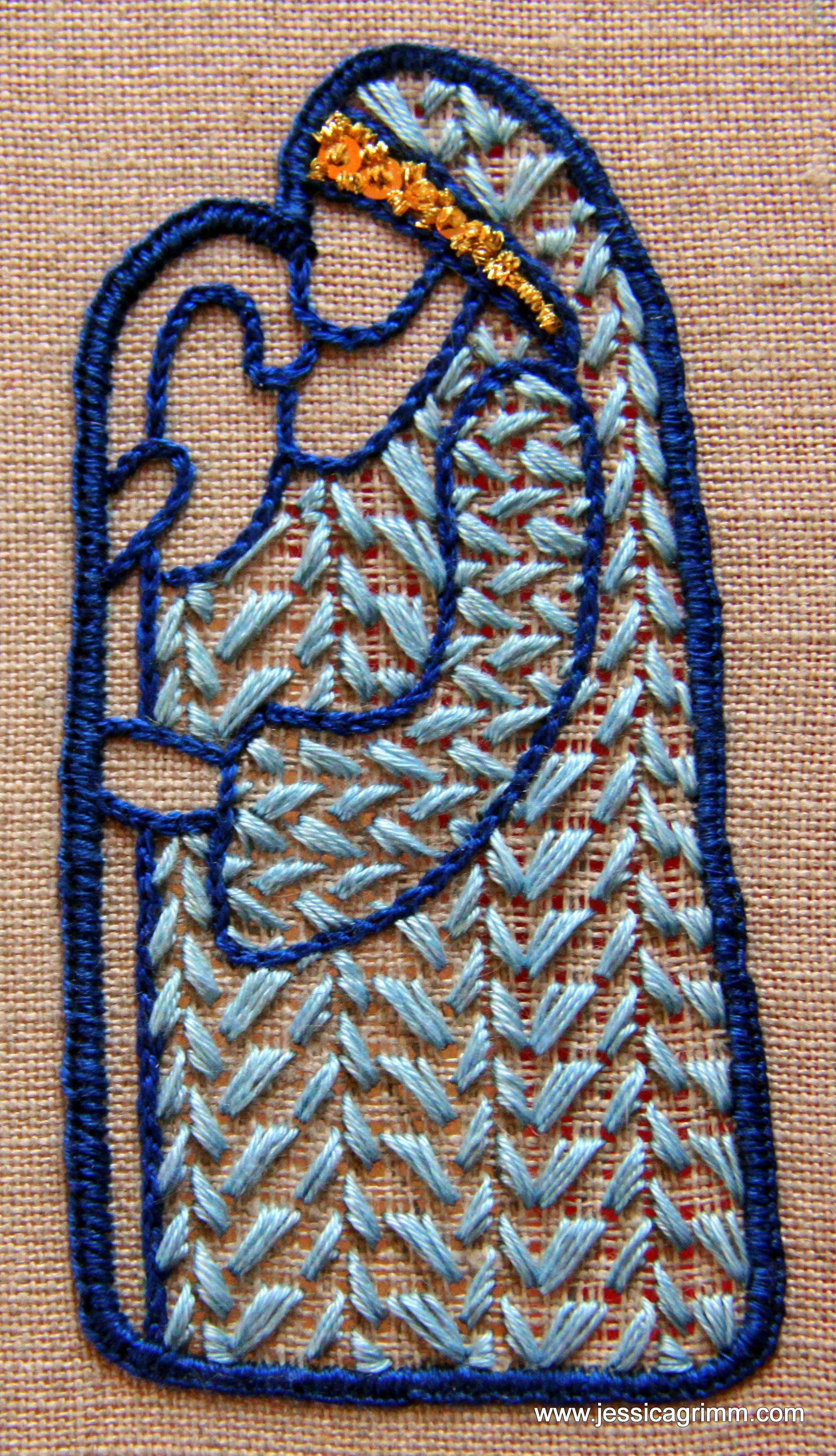 Shepherd Colourful Schwalm Embroidery With A Bit Of Goldwork On