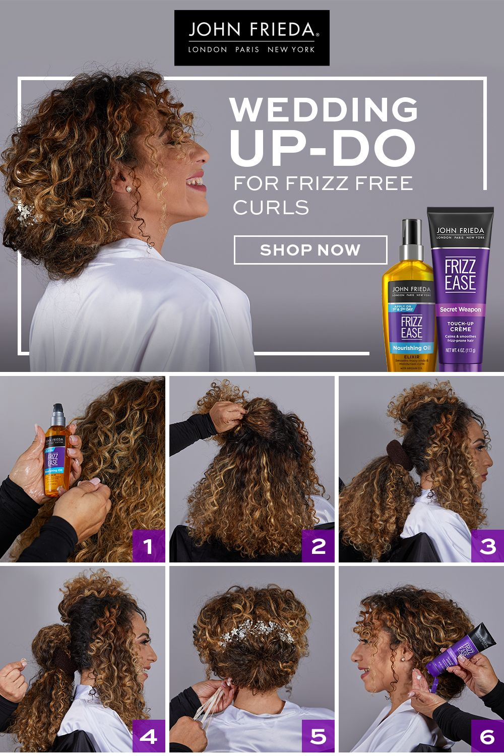 John Frieda Frizz Ease Collection In 2020 Frizzy Hair Help Natural Hair Styles Easy Frizz