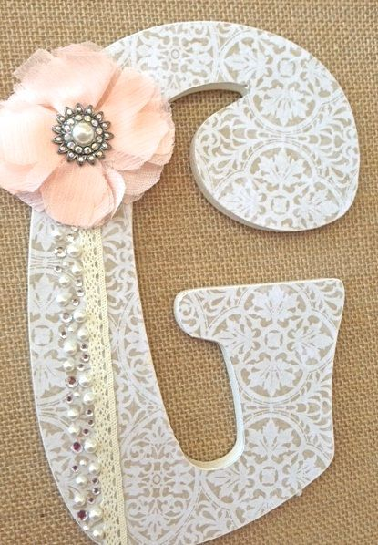 Custom nursery letters baby name girl nursery decor for Baby name letters for nursery