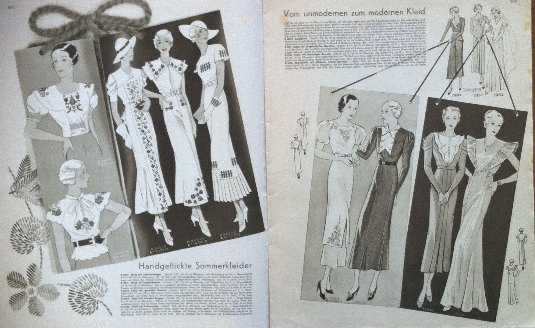 Deutsche ModenZeitung No. 12 Vol. 43 1933/34 Ретро