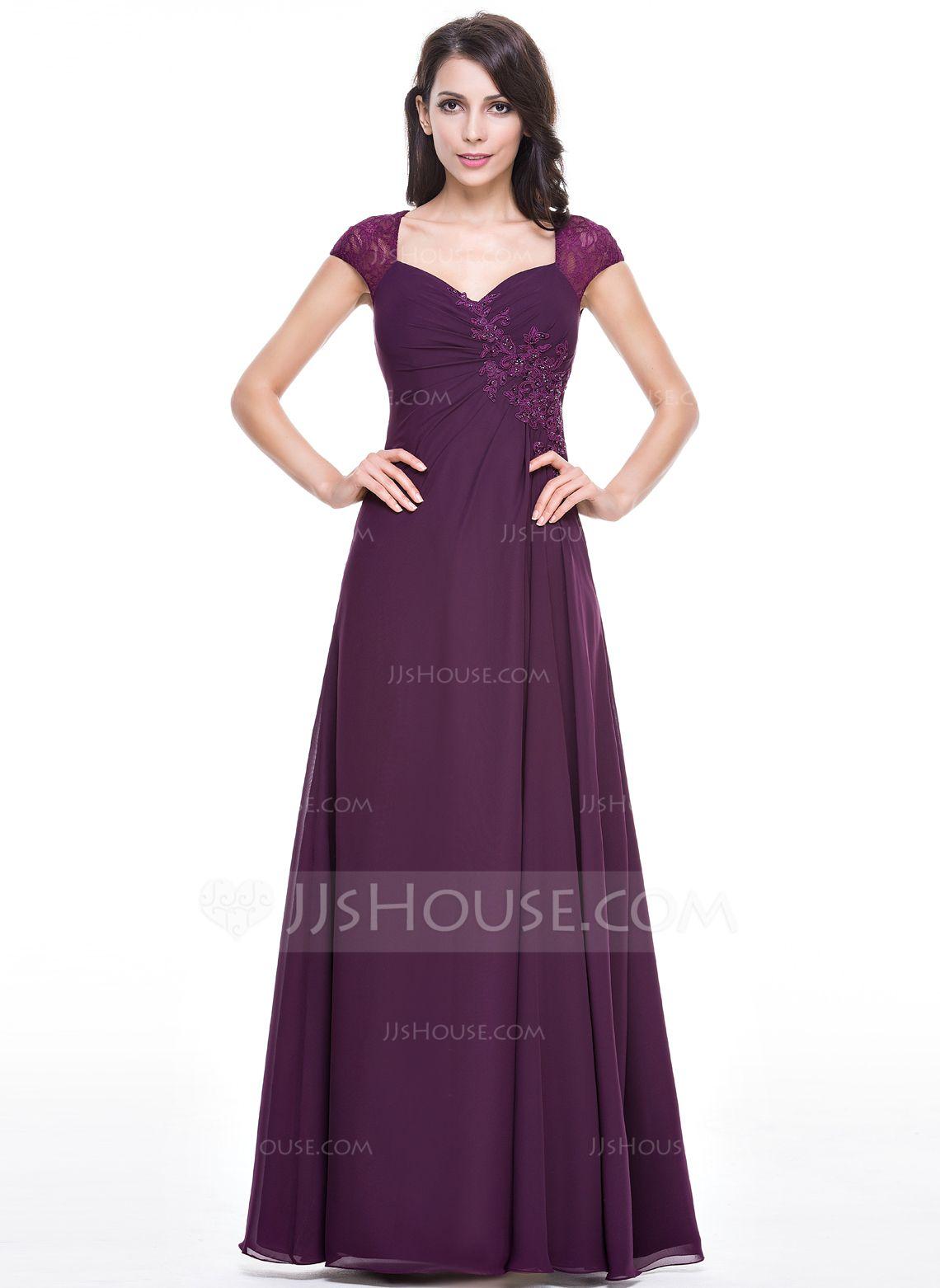 Corte A/Princesa Novio Hasta el suelo Gasa Vestido de noche con ...