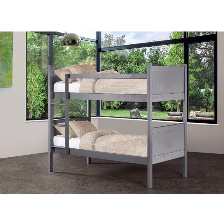 Kyle Panel Bunk Bed Graphite With Images Bunk Beds Bunks Bed