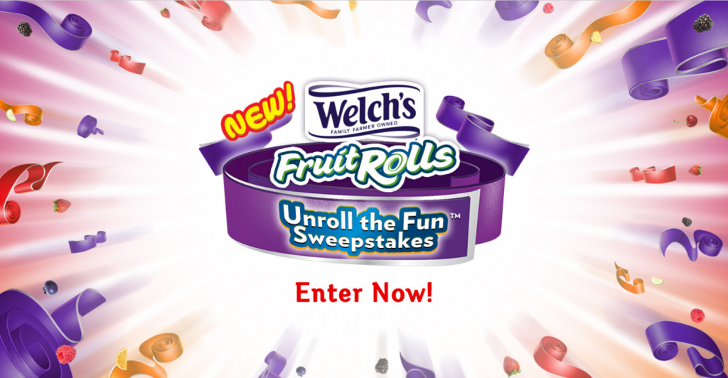 Welch's Fruit Snacks has just unveiled new Welch's Fruit Rolls and to celebrate, they're giving away exciting prizes daily with the Welch's Fruit Rolls Unroll the Fun Instant Win Game!