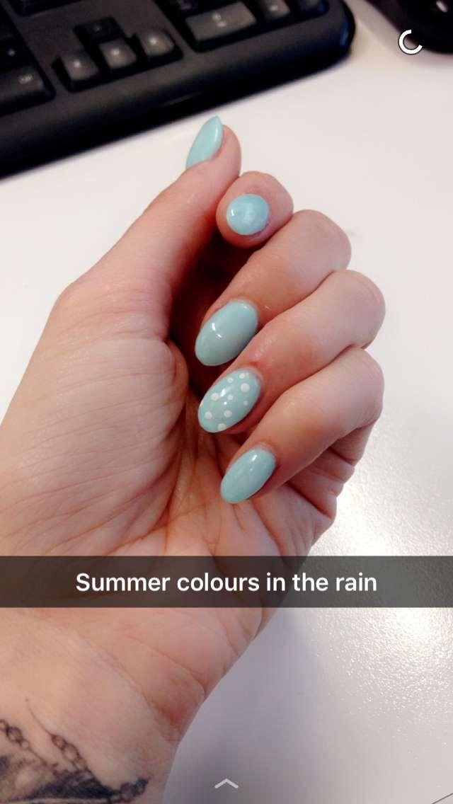 Duck egg nails # cute summer colour #