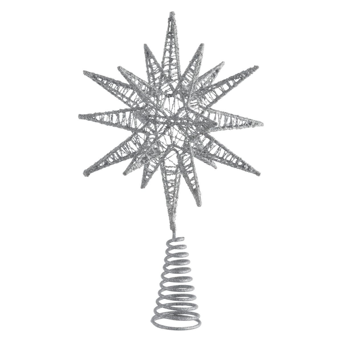 Habitat Christmas Trees: Habitat Polaris Silver Star Christmas Tree Topper (30 X