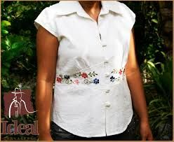 Resultado de imagen para blusas tipo guayabera bordada  213770c2a701