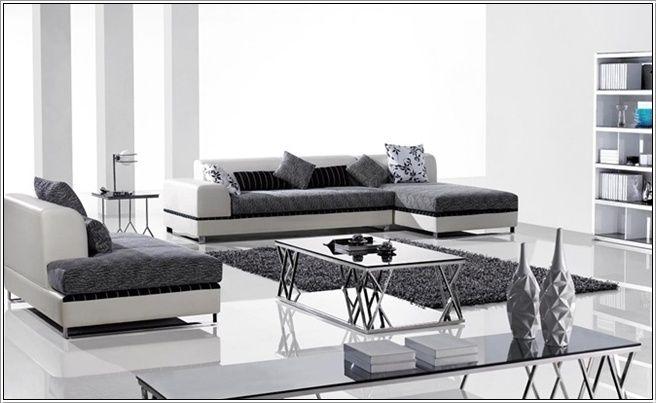 Surprising This Is A Beautiful Two Toned Sectional Sofa Of Dark Grey Creativecarmelina Interior Chair Design Creativecarmelinacom