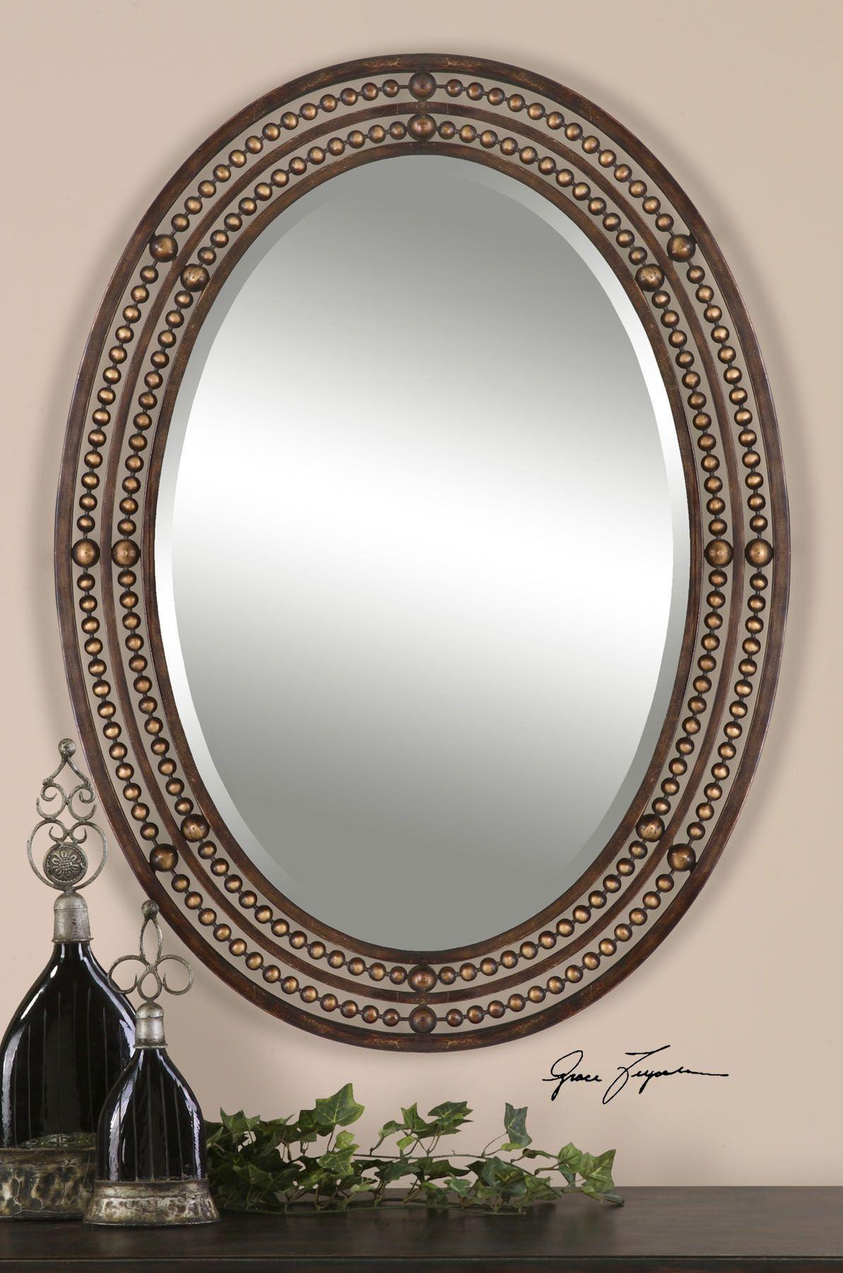 Matney Distressed Bronze Mirror Mirror wall